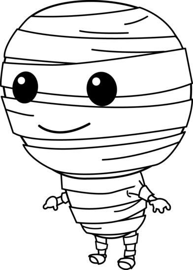 Cute halloween mummy clip art free clipart images 2