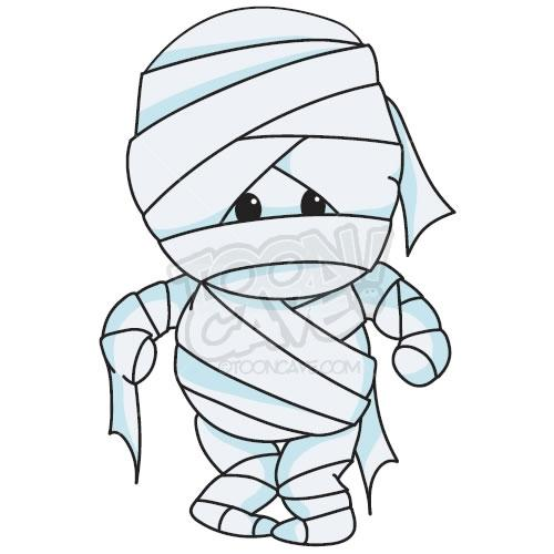 Halloween mummy clipart 4