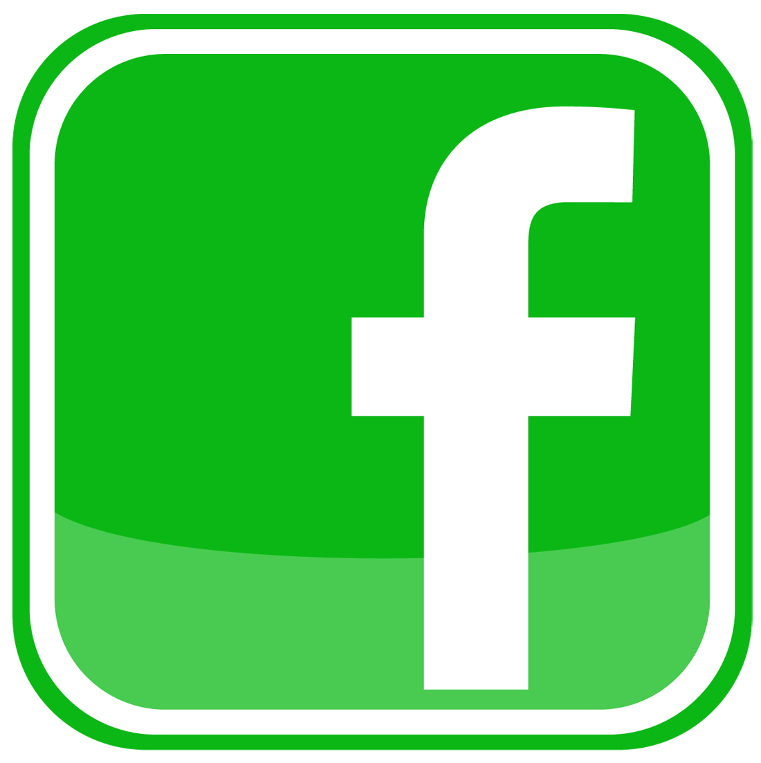 Facebook Icon logo png Green