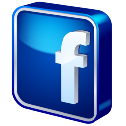 Facebook Glass Blue Logo