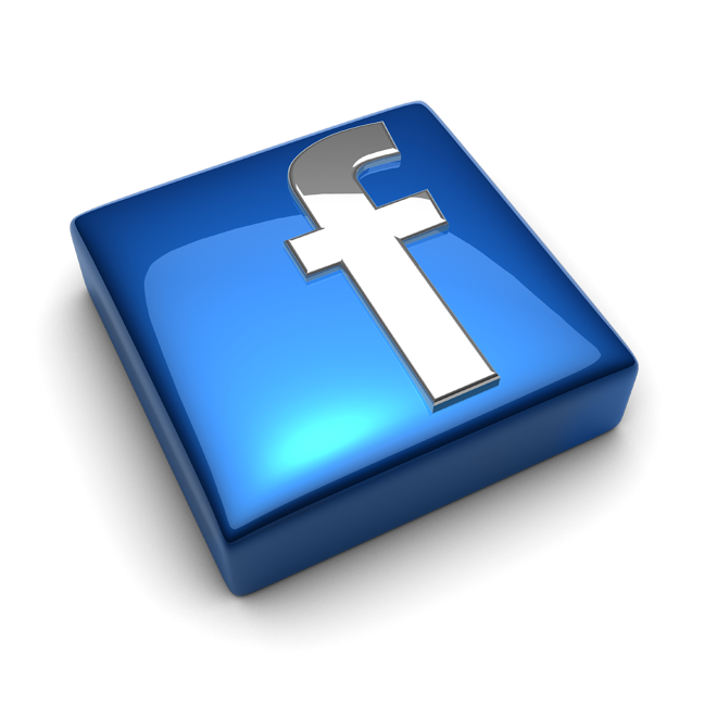 Facebook Logo Glass 3d Png Hd