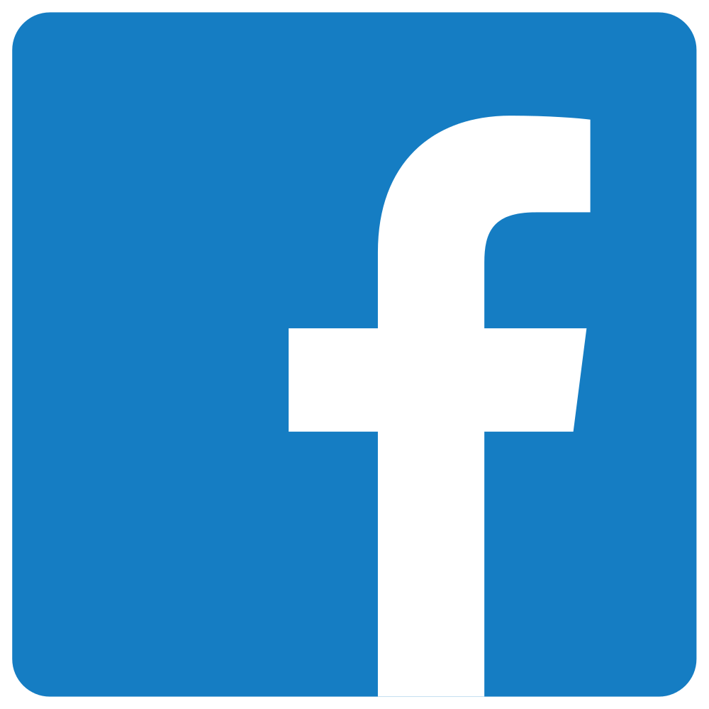 facebook logo PNG clear blue