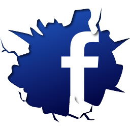 facebook logo fb crack break effect
