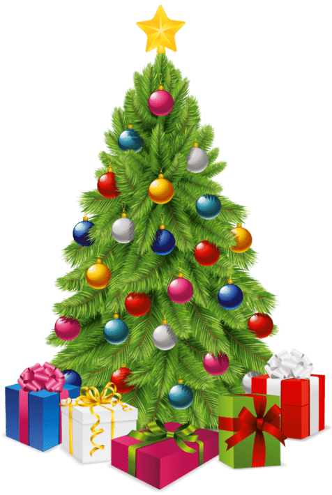 christmas tree transparent gifts