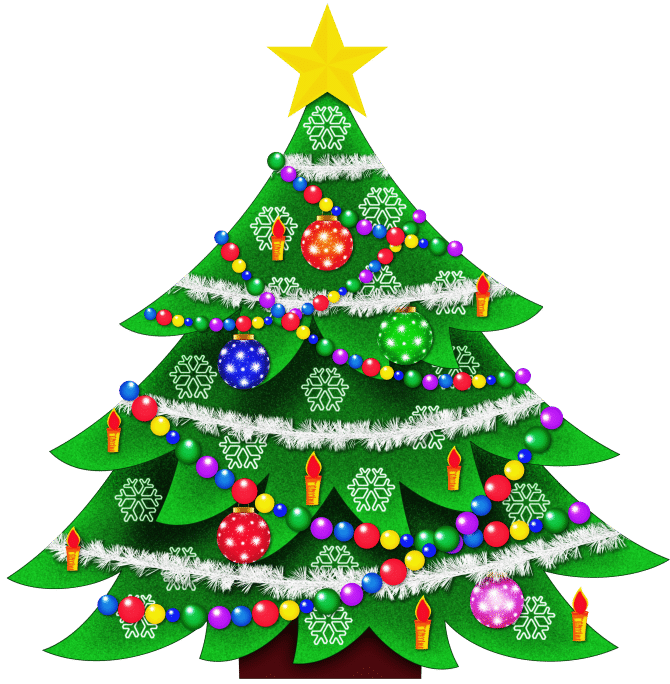 Kids Christmas Tree Clip Art