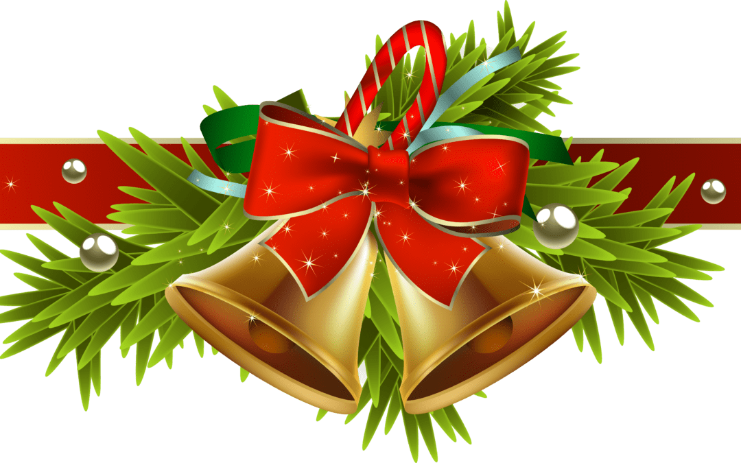 Christmas ribbon with decor png hd