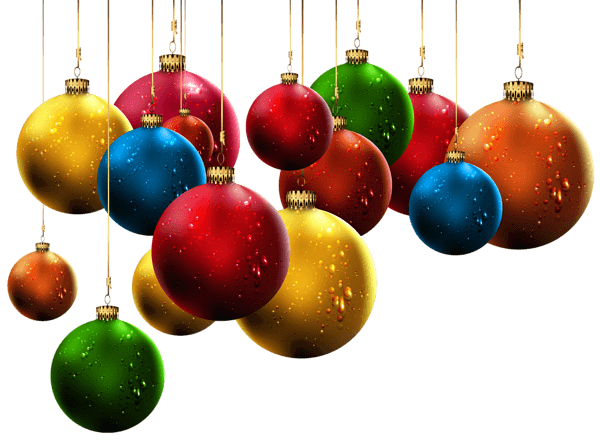 christmas balls all colors png