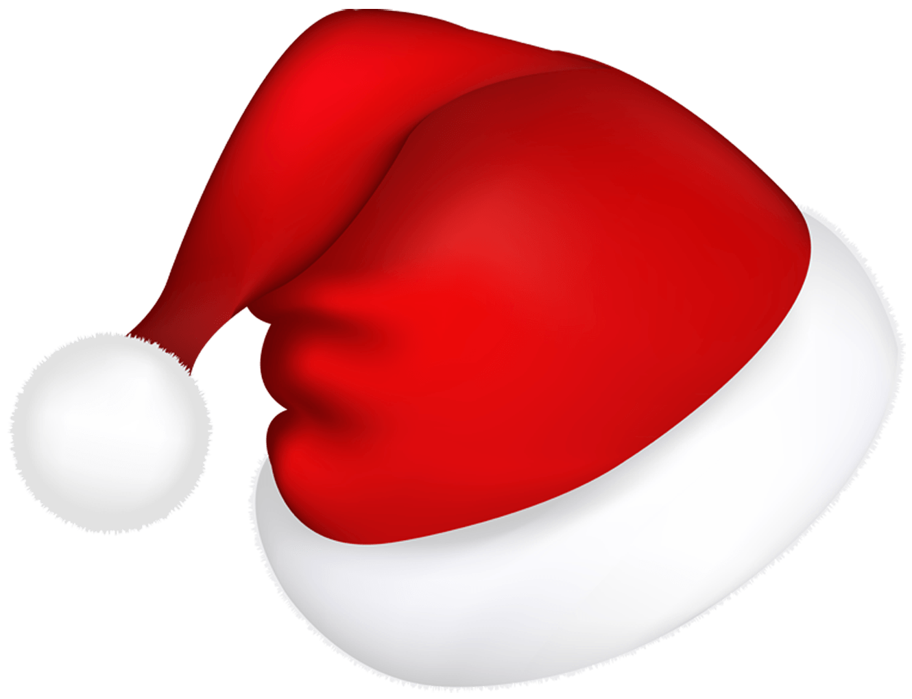 christmas santa claus red hat png clip art