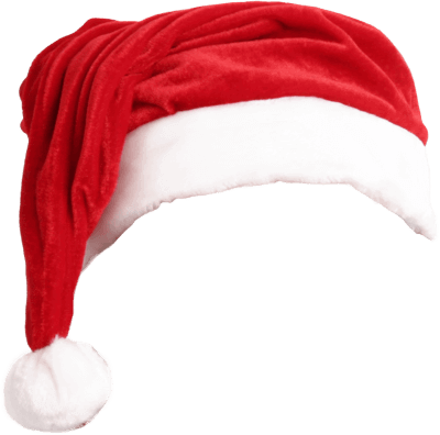 realistic christmas santa claus red hat png image