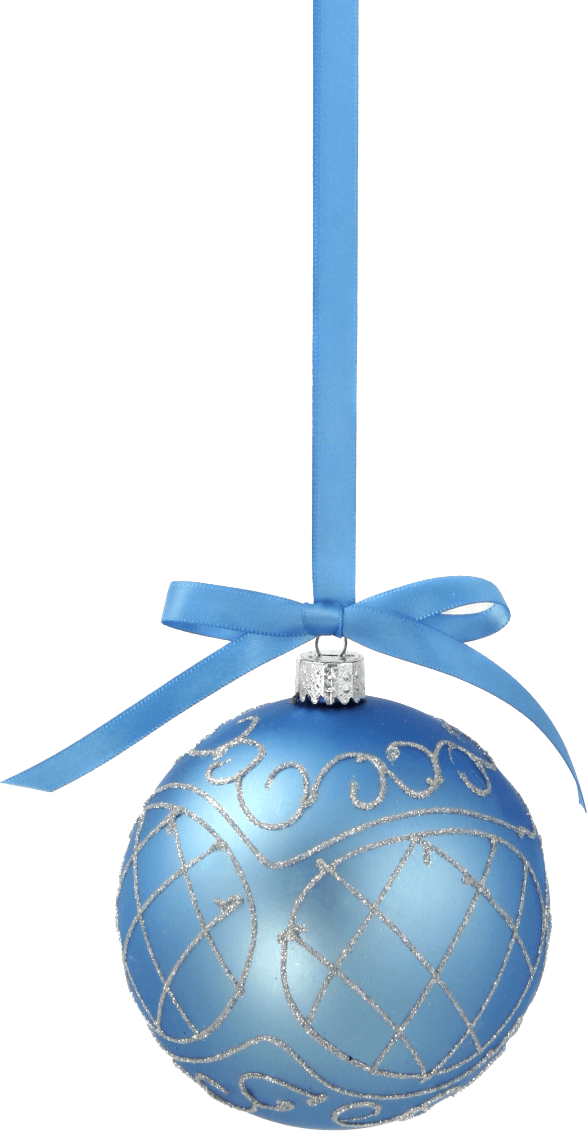 christmas ball with blue ribbon toy png image