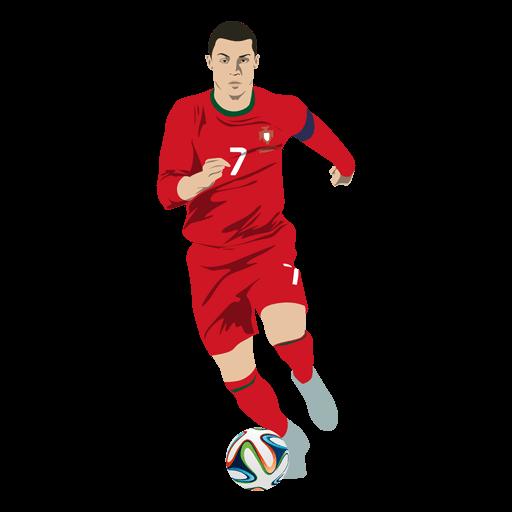 Cristiano Ronaldo Football Cartoon By Vexels