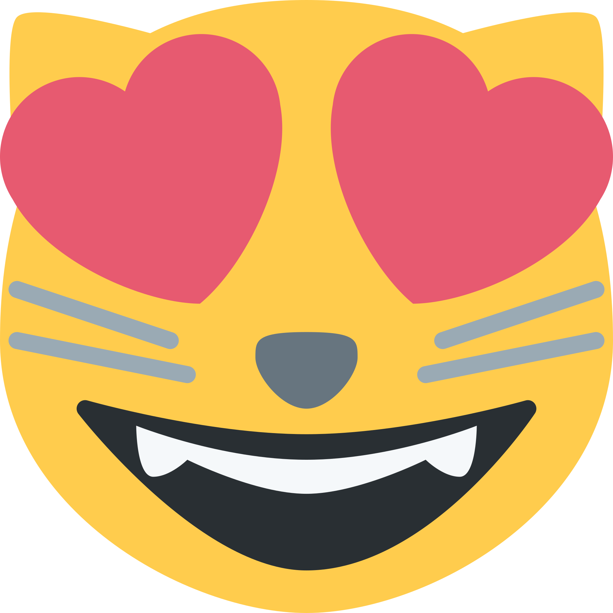 Emoji Cat Heart Eyes Png