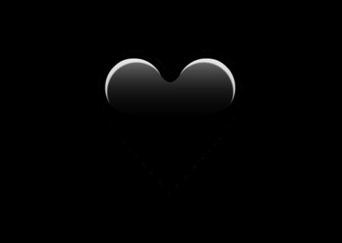 emoji black heart png rh clipart info black heart clip art transparent little black heart clipart