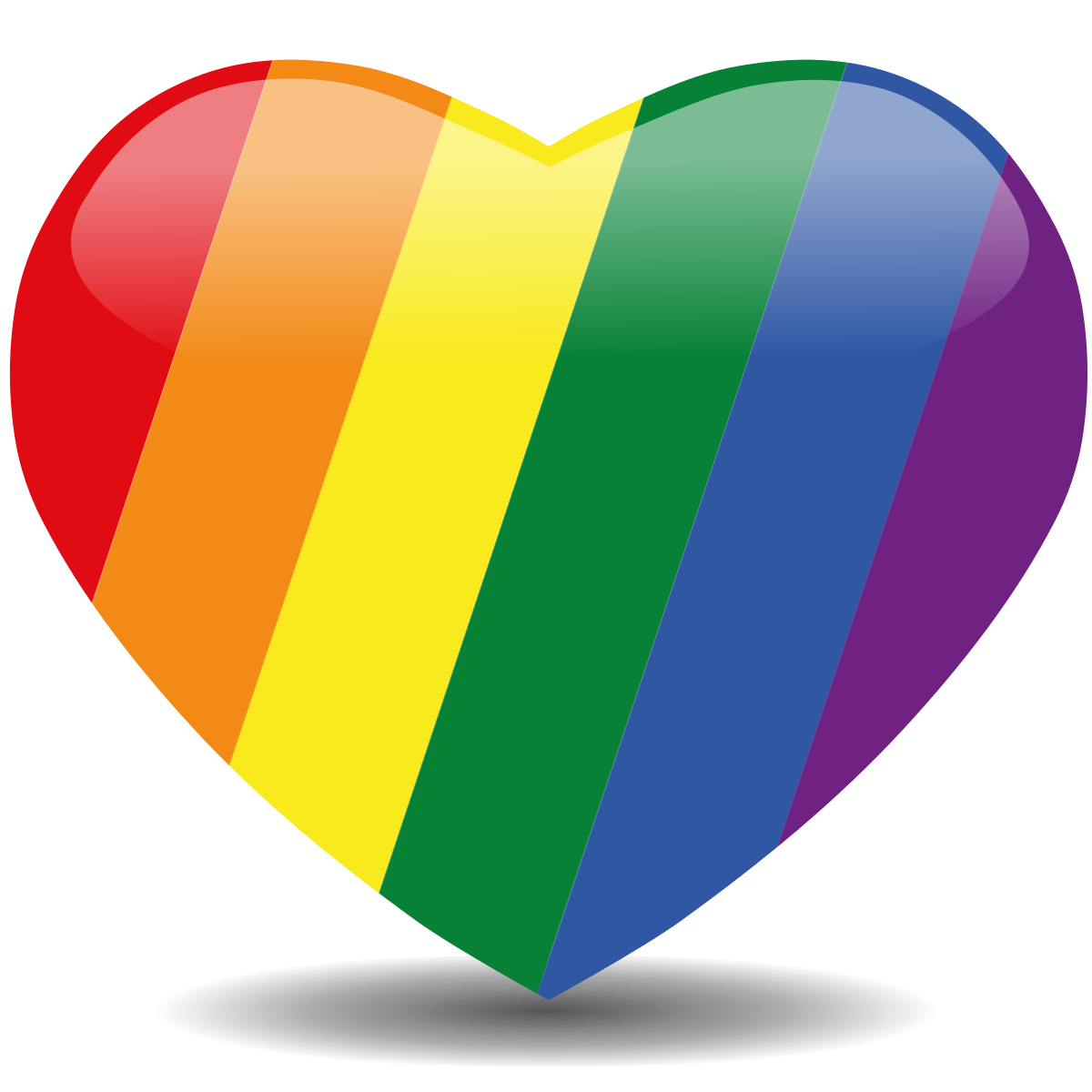 rainbow heart png