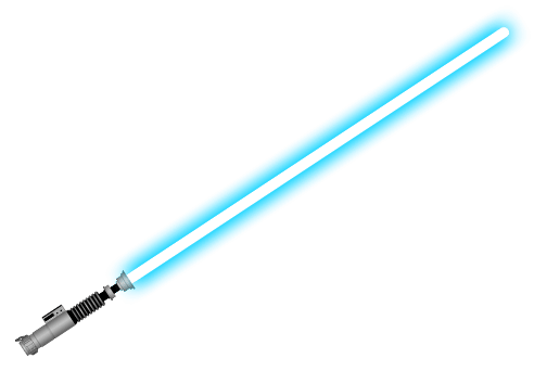 Blue Lightsaber transparent PNG