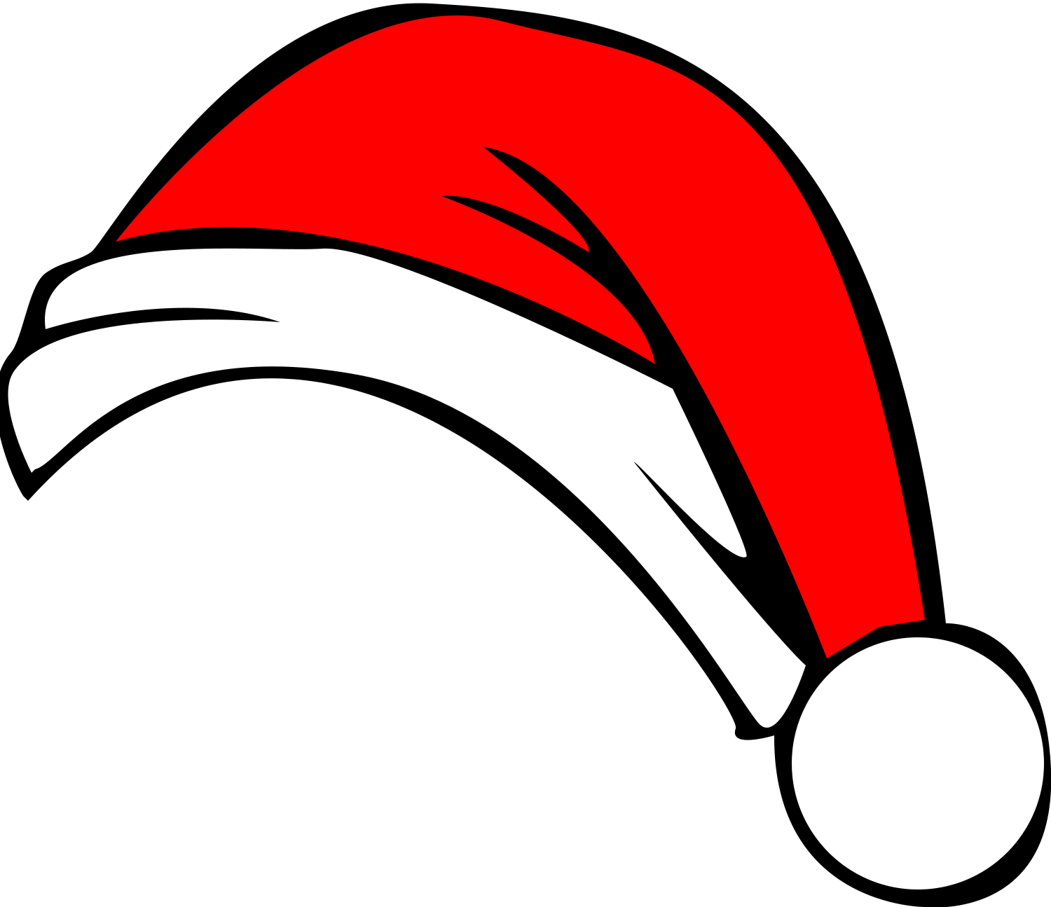 santa hat clip art cartoon rh clipart info  santa claus hat clipart free