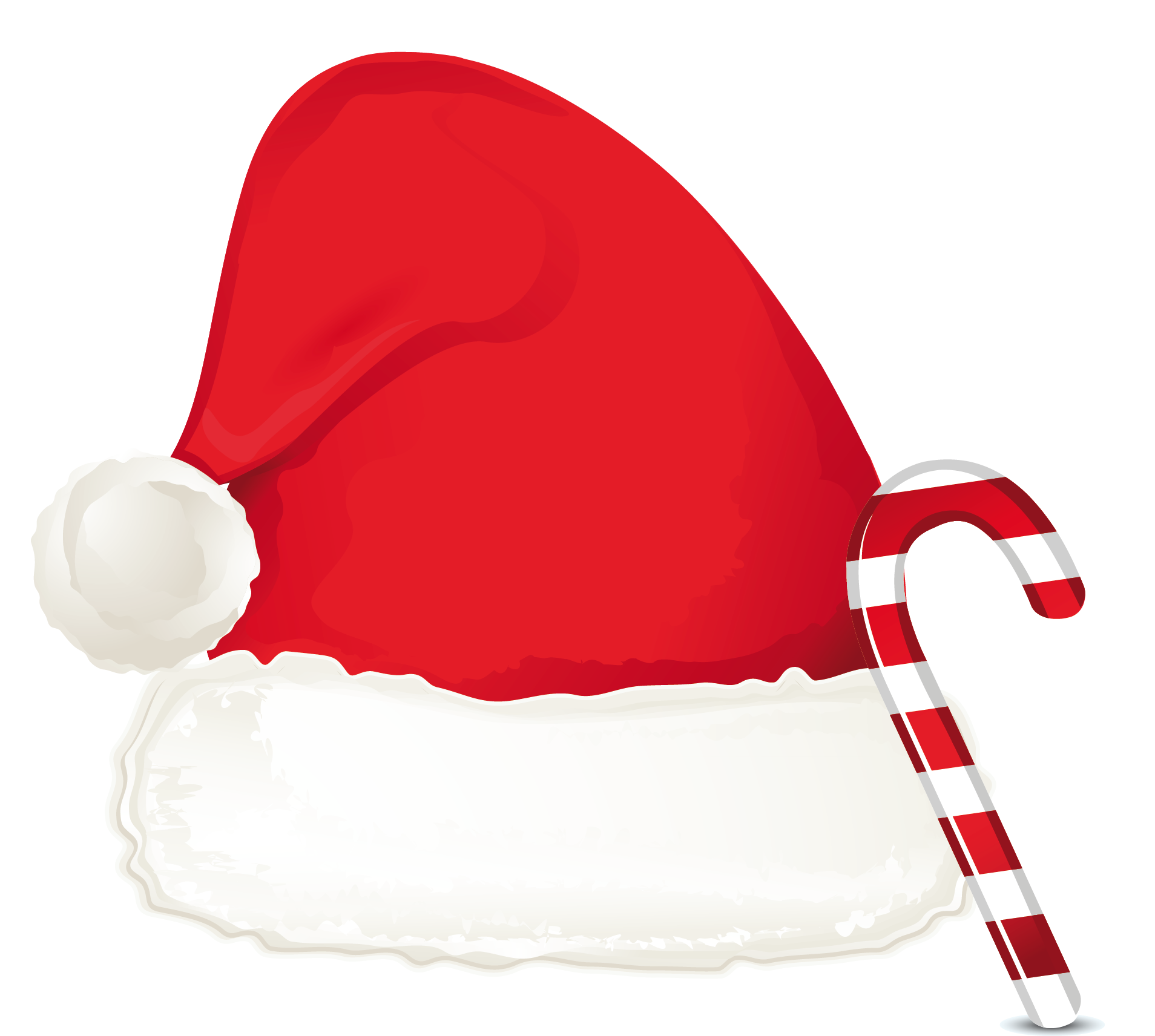Christmas Candy Png.Christmas Candy Cane Ornament And Santa Hat Png Clipart