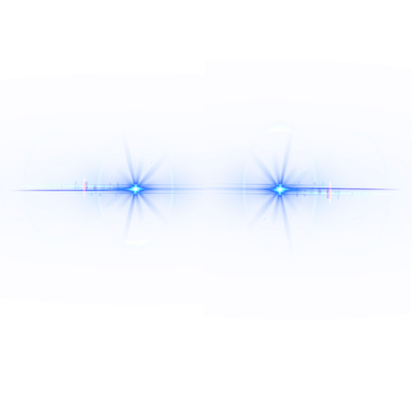 Small Lens Flares Png Blue