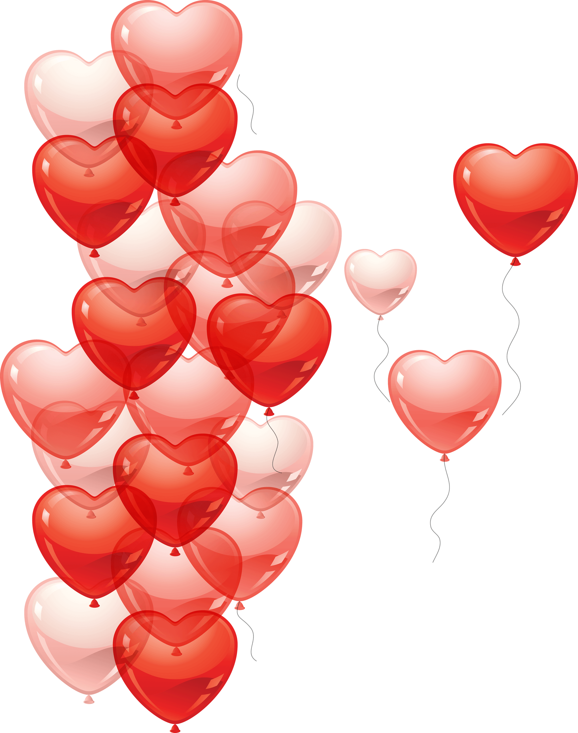 Balloons Hearts Png Transparent