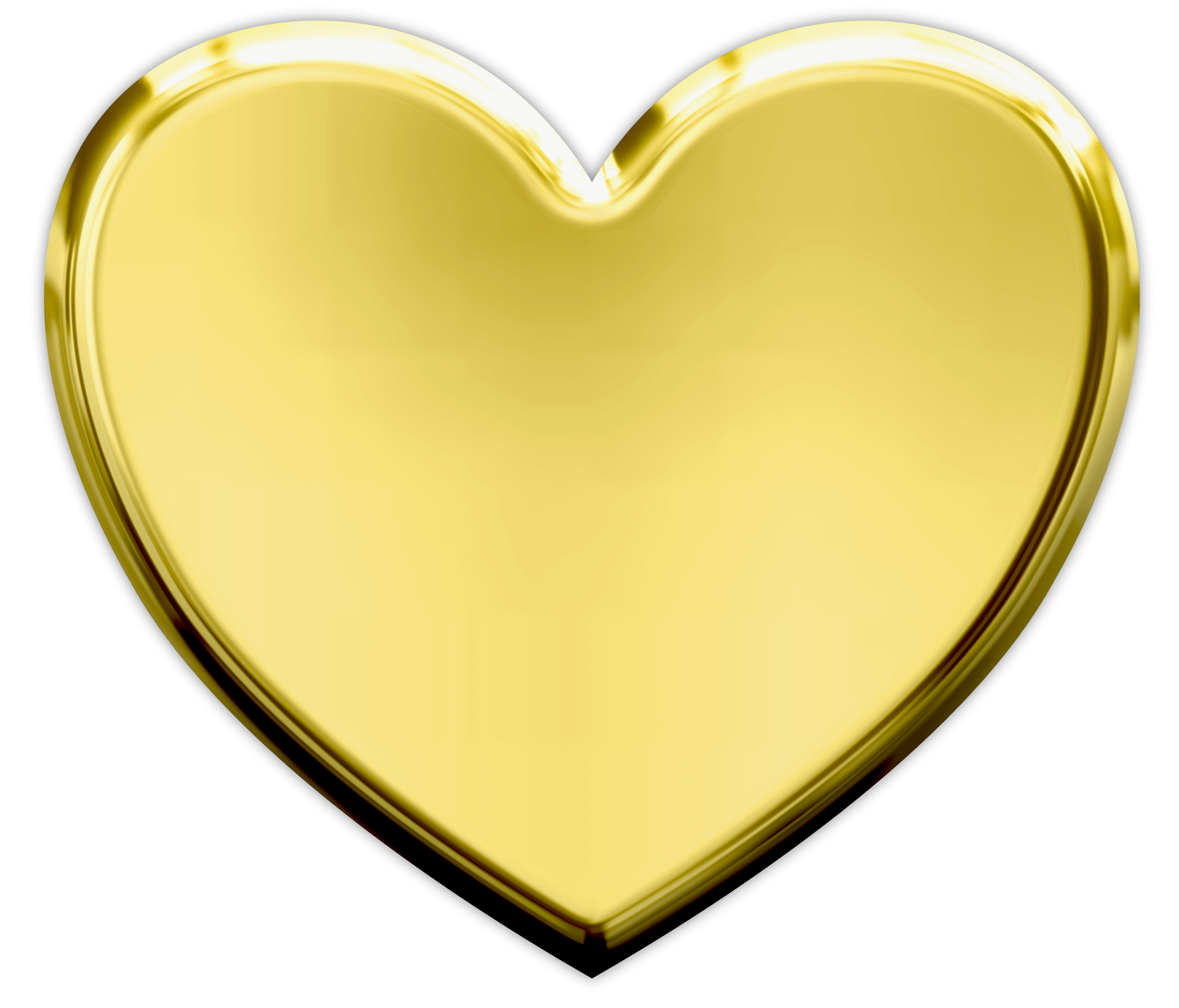 Gold Heart PNG Transparent Image