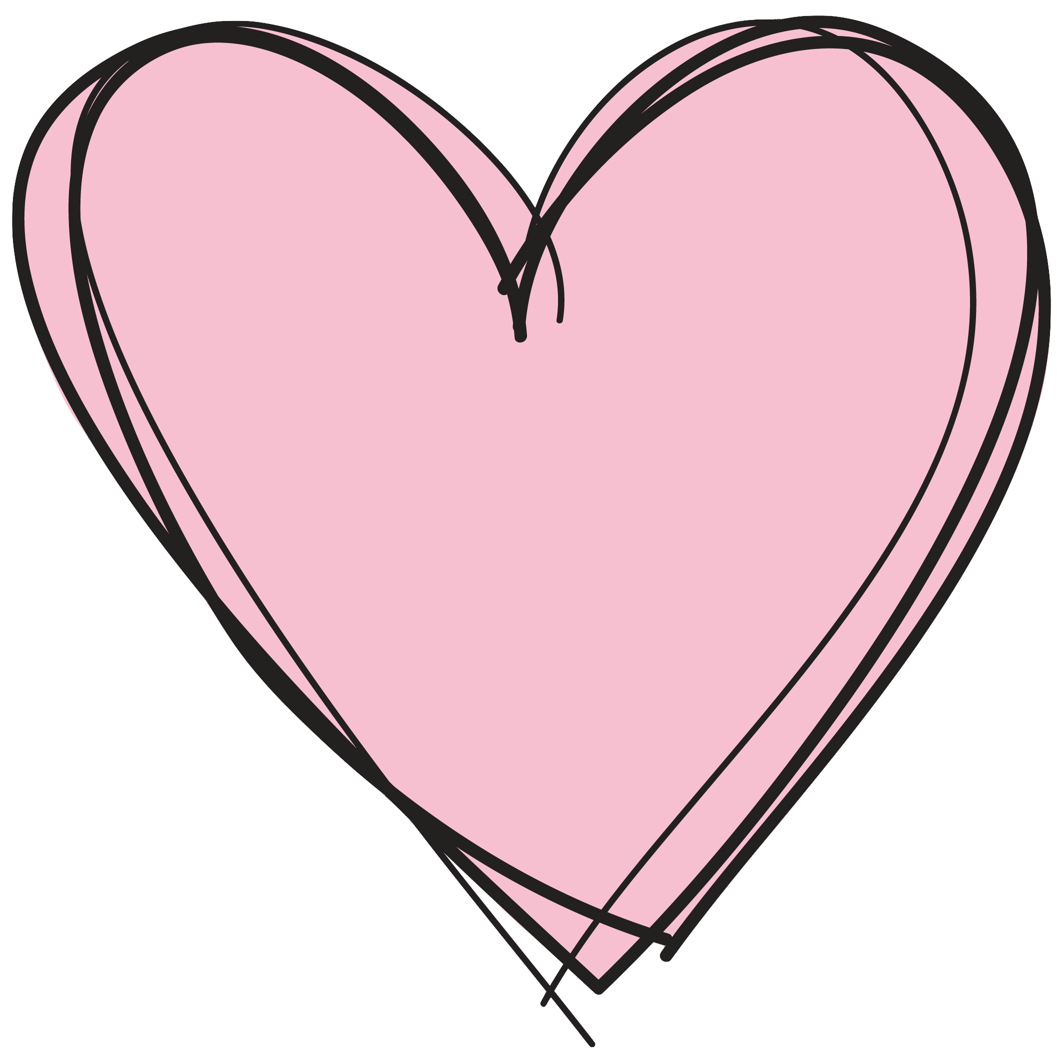 pink heart transparent background