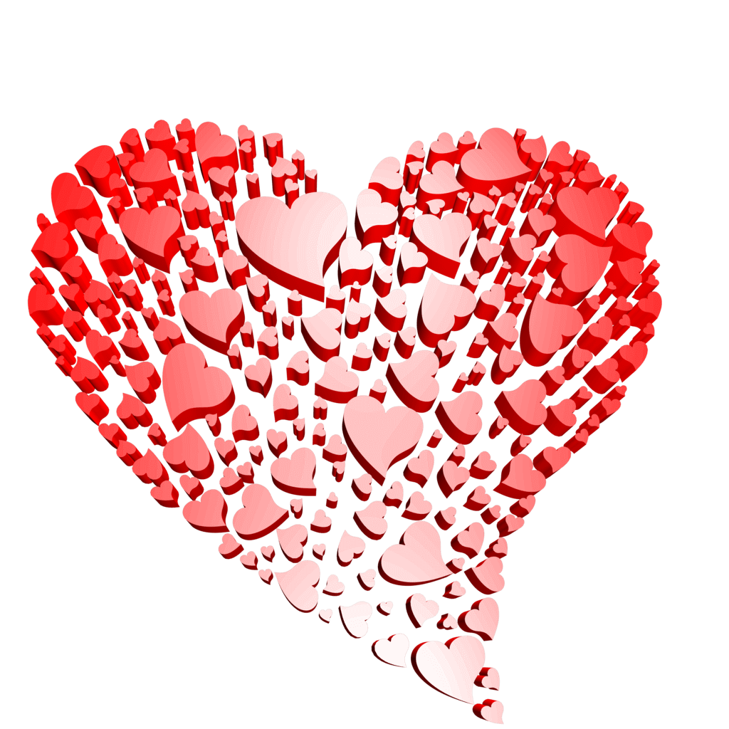 3d Transparent Heart of Hearts Free Clipart