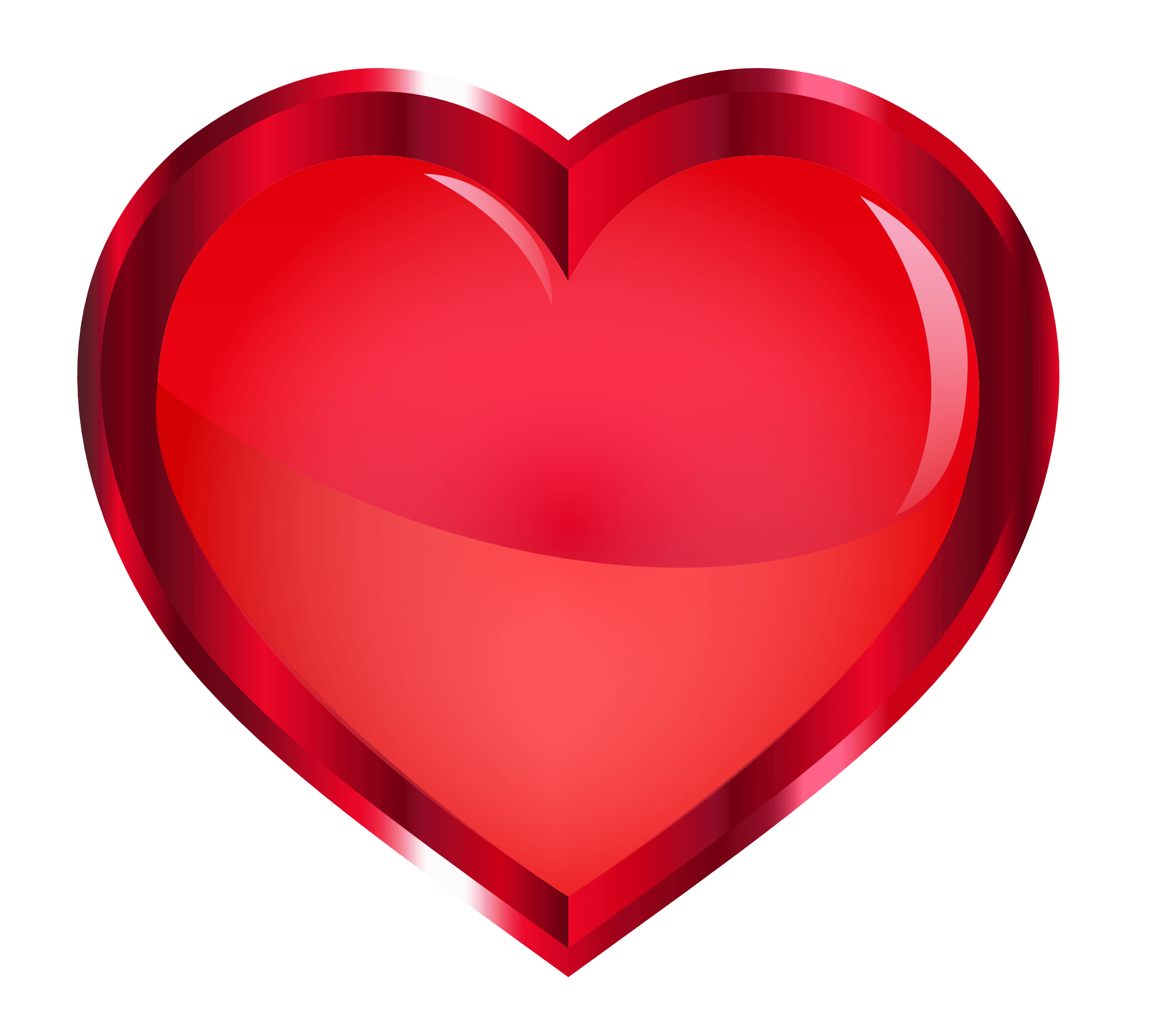 red heart png transparent image