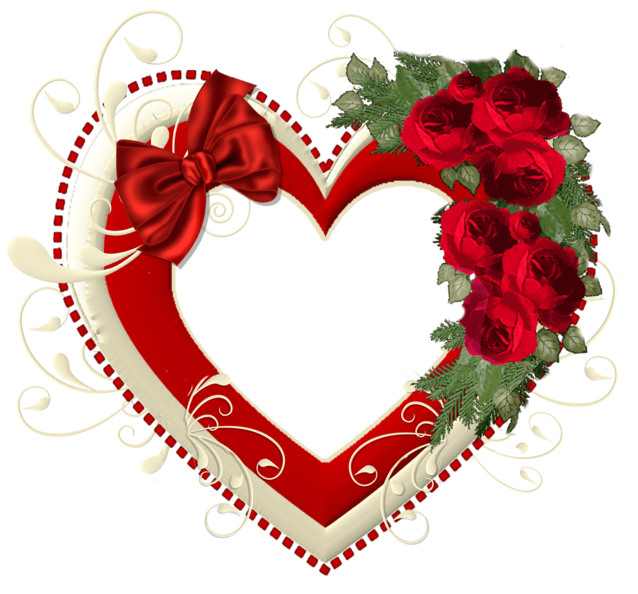 heart png transparent with roses