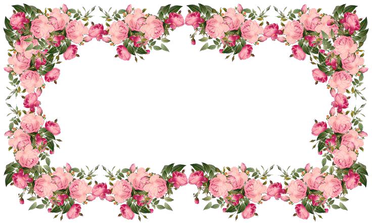 8 2 flowers borders transparent
