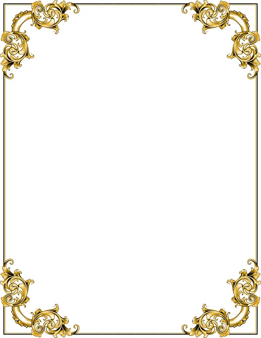 Gold Frame Png Border Transparent