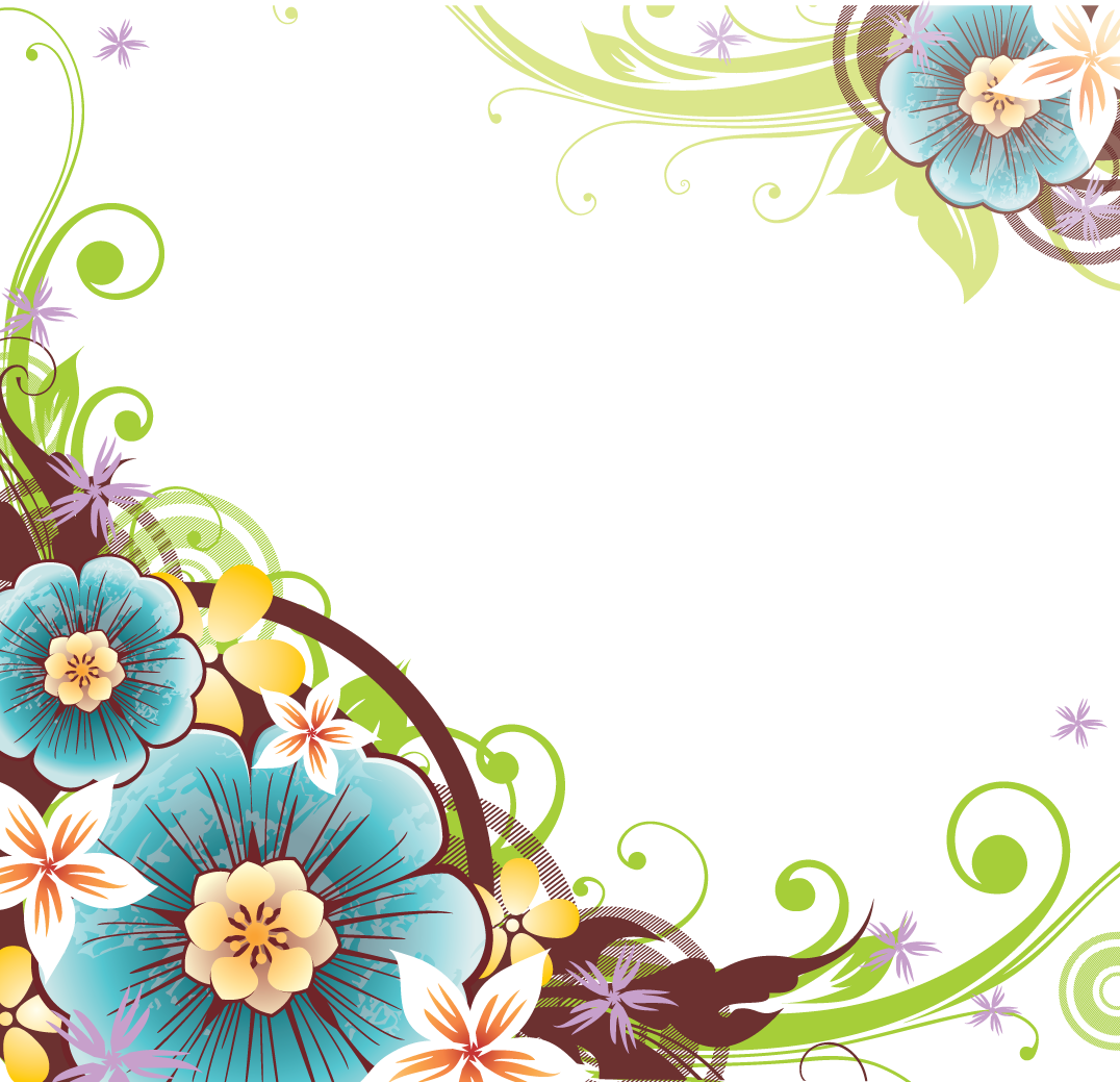 3 2 Flowers Borders Png File