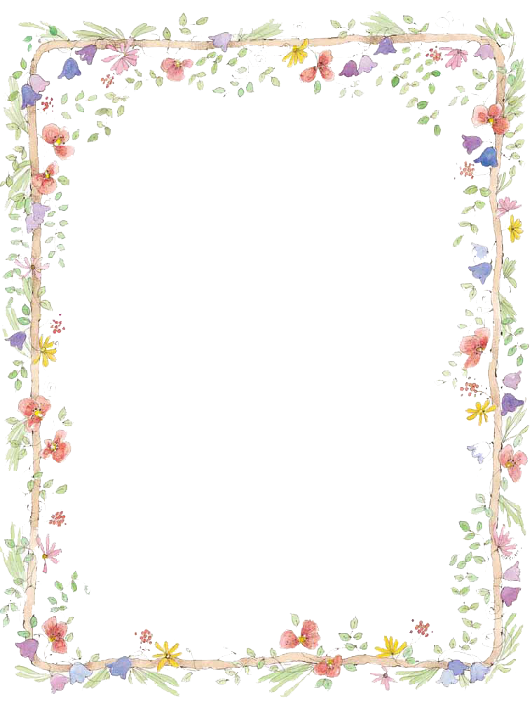 1 2 Flowers Borders Download Png