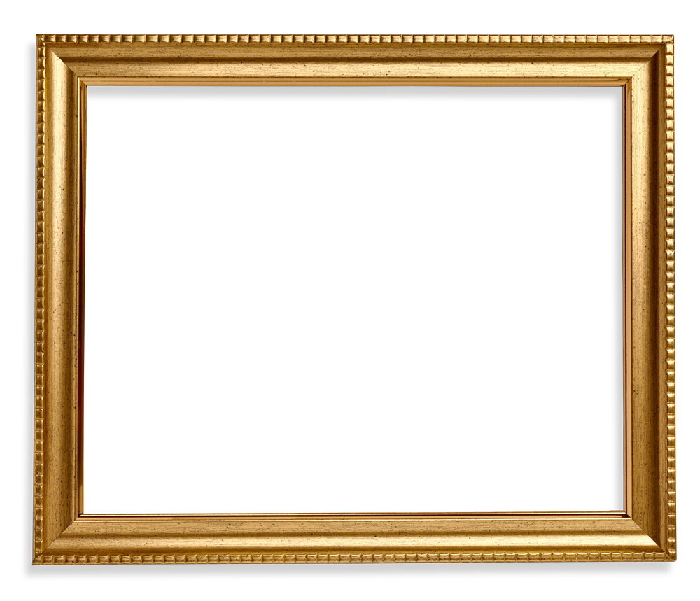 Square Frame Png Wood Gold