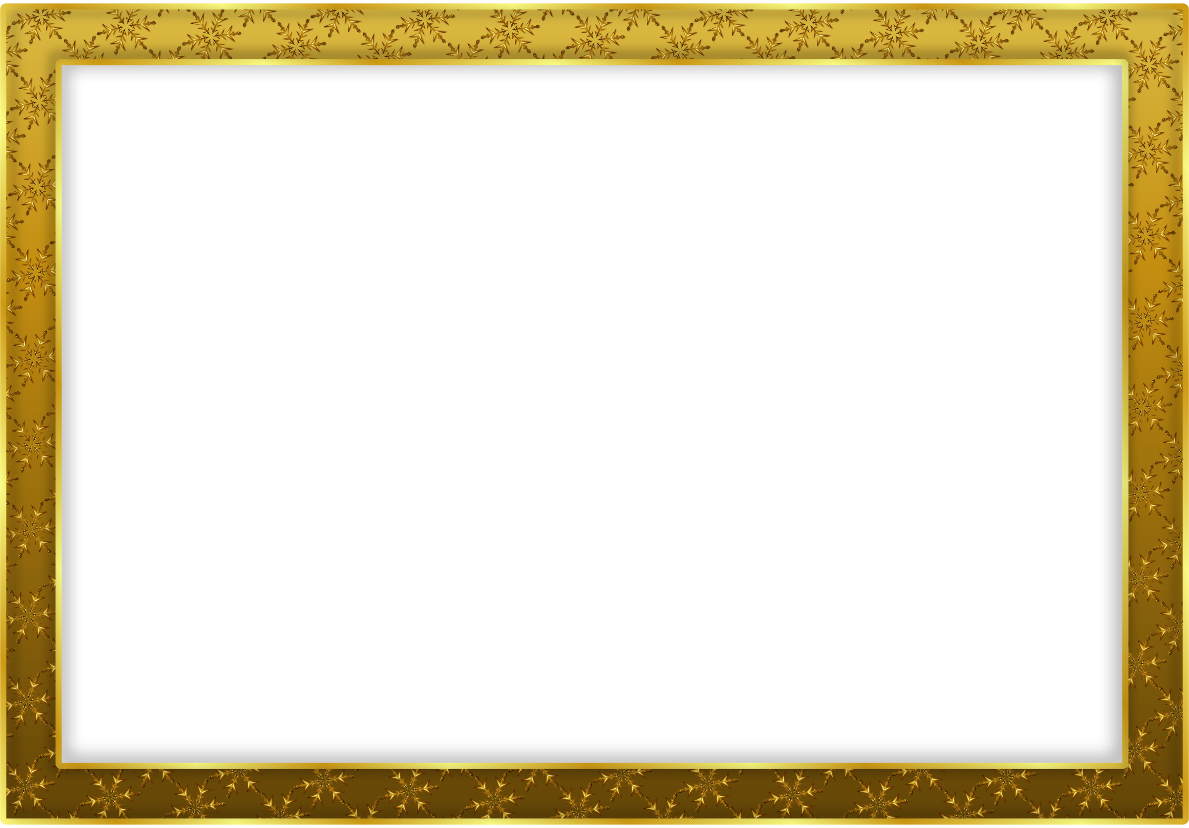 Gold Frame Free PNG Image