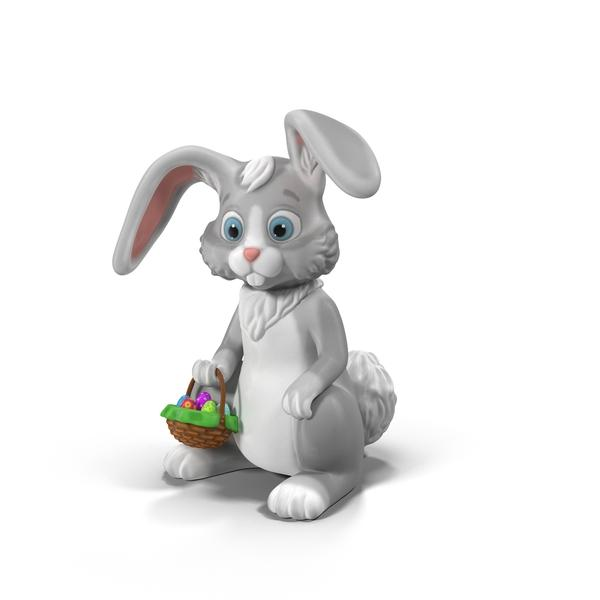 easter bunny 3d clipart