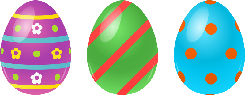 three free easter clipart png