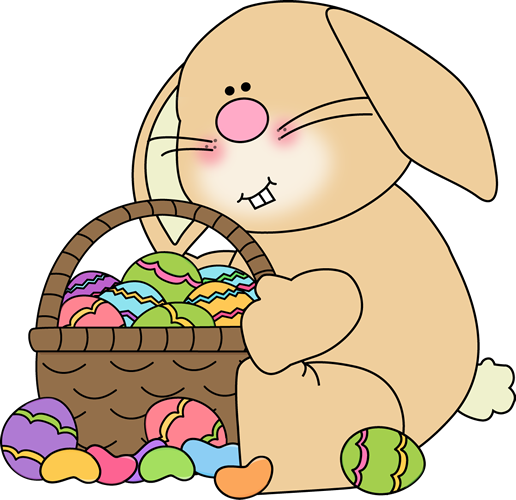 easter rabbit eggs png