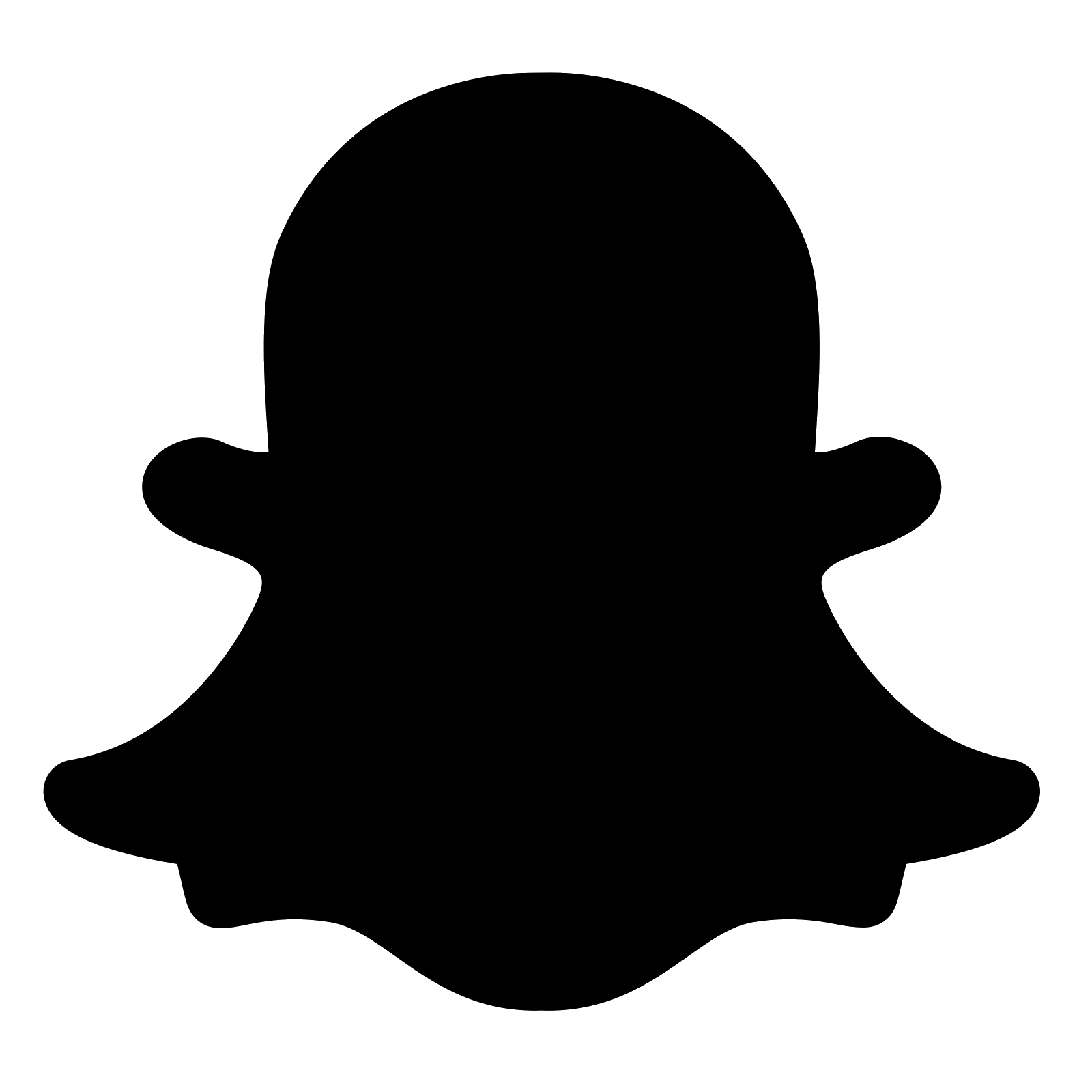 black logo snapchat filled png