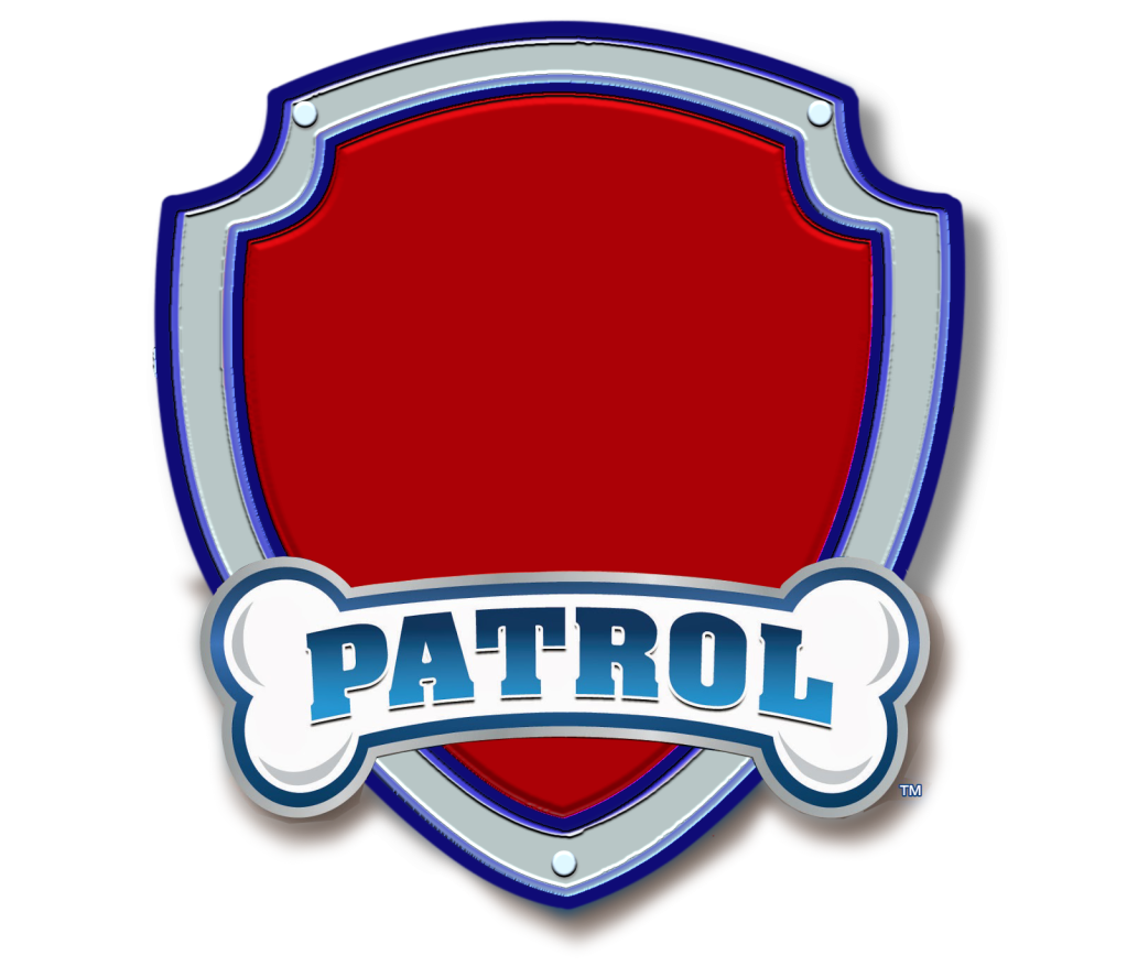 paw patrol logo blank