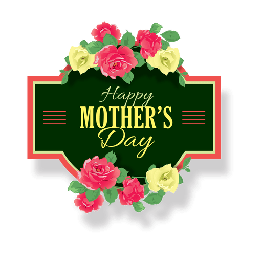 mothers day png label by vexels