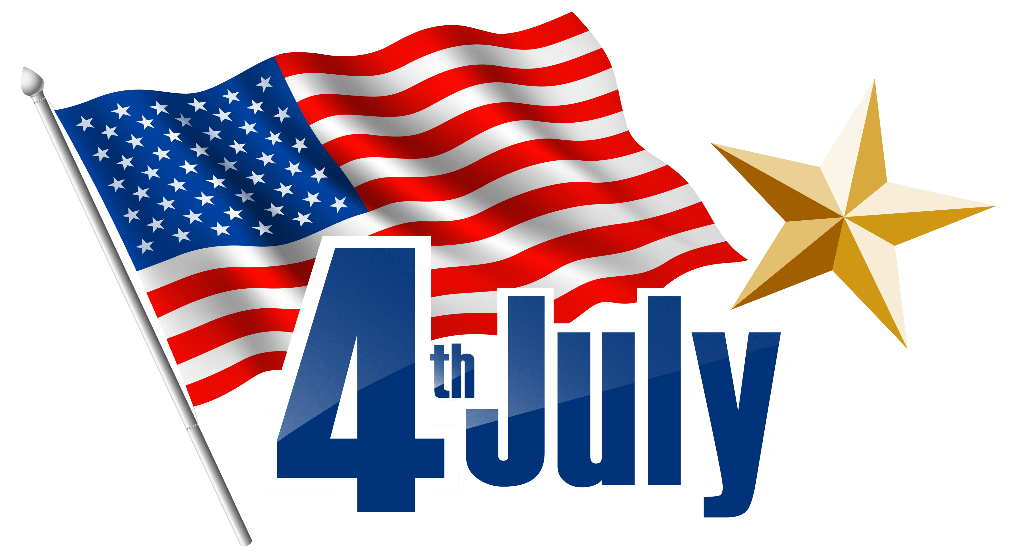 4th July Transparent PNG Clip Art Image