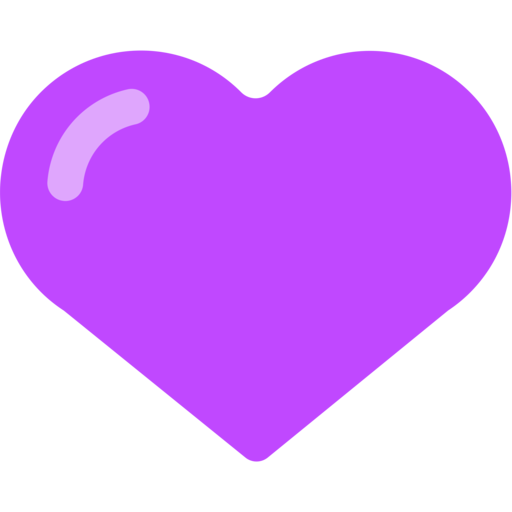 purple heart emoji png simple