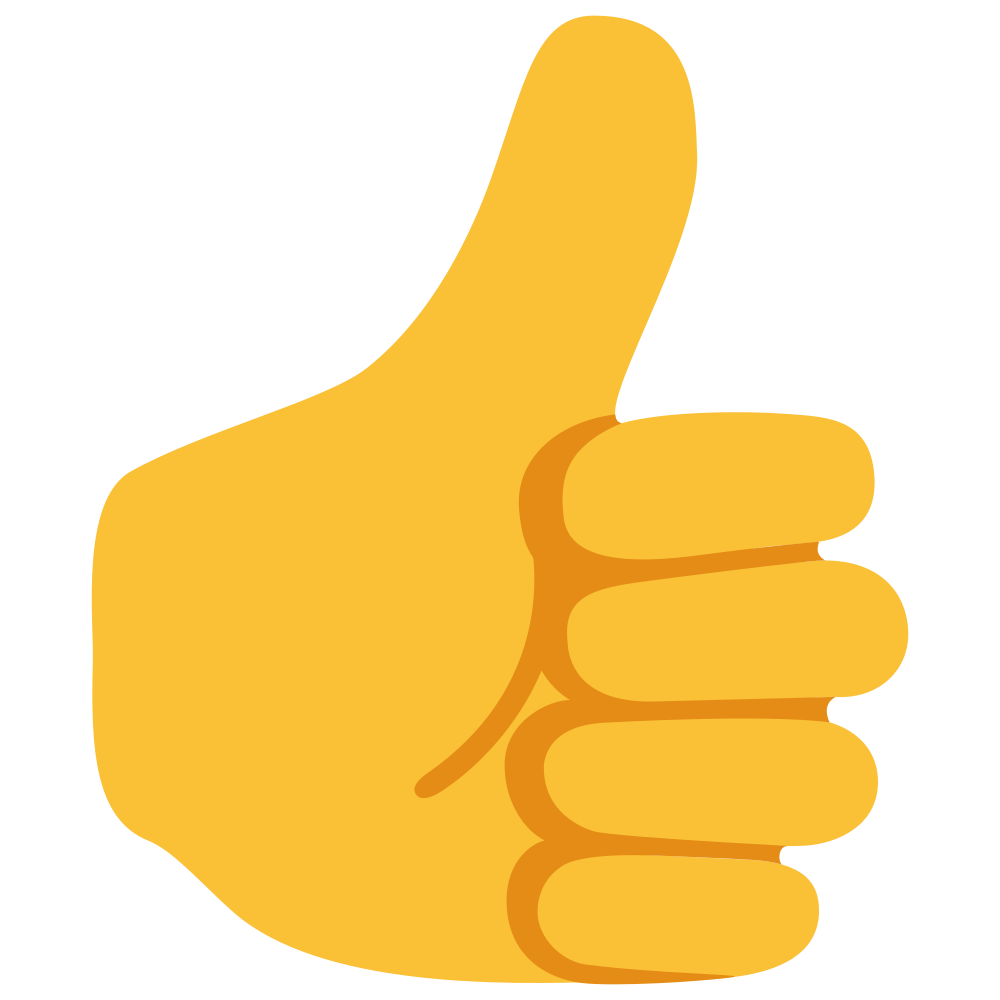 thumbs up emoji yellow skin