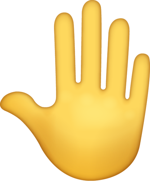Raised Back Of Hand Emoji Icon ios10