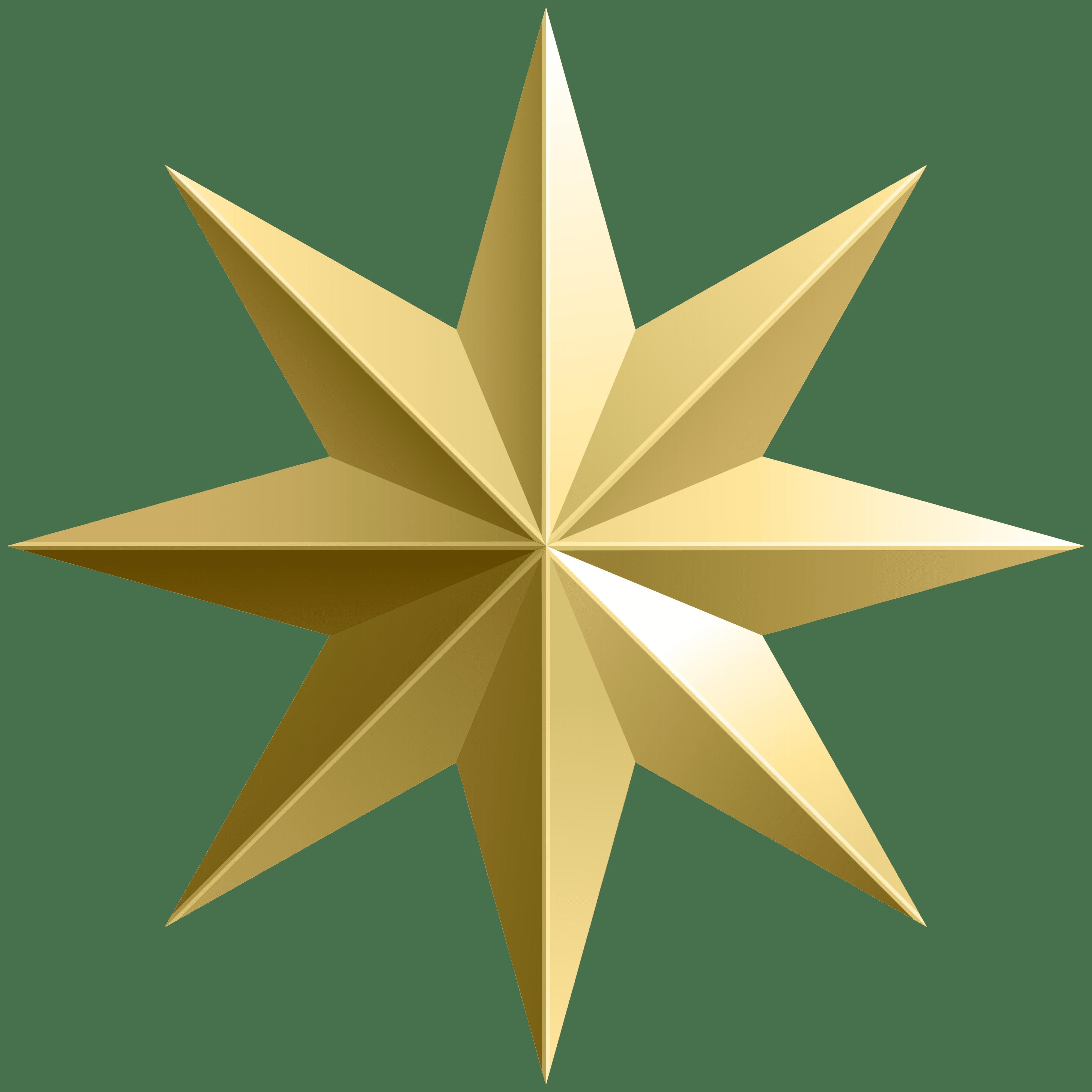 Gold Star Transparent PNG Image