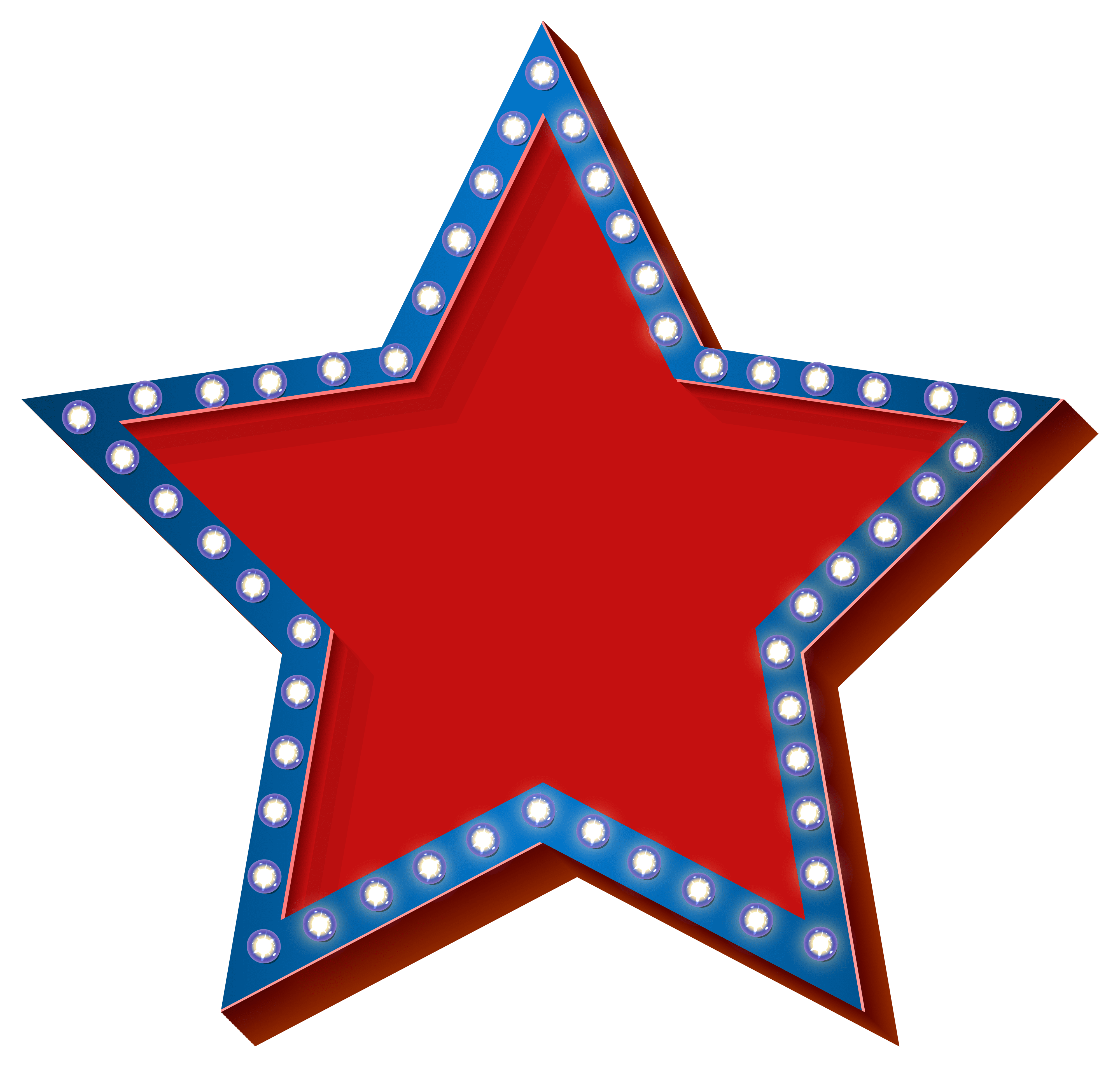 Star With Lights Transparent PNG Clip Art Image