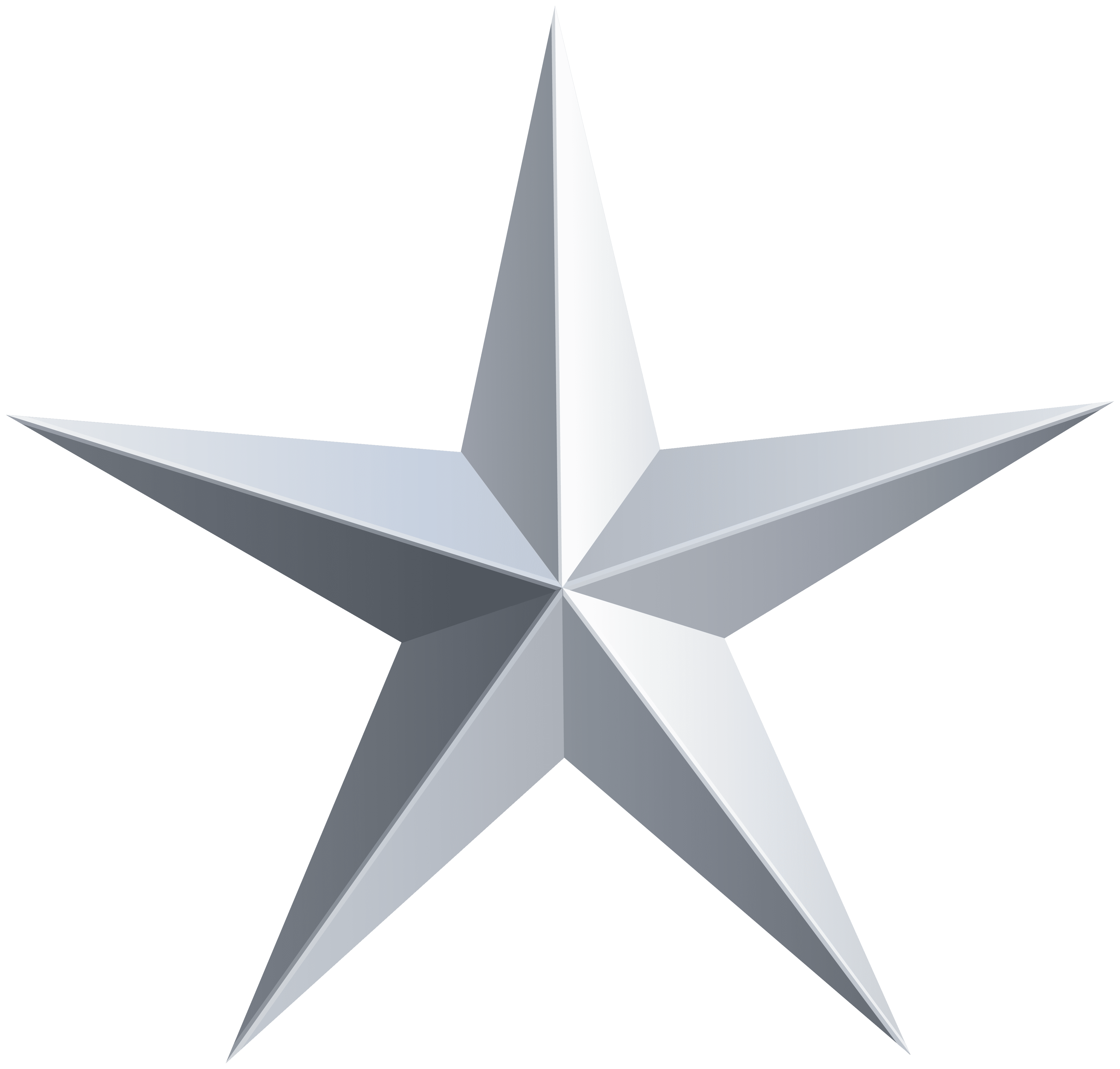 Silver Star Transparent PNG Clip Art