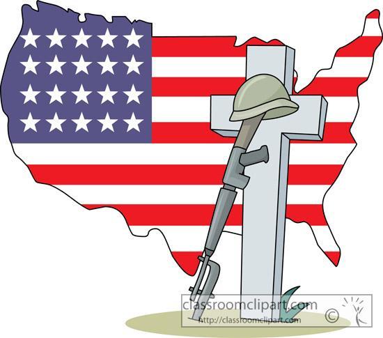 Memorial day soldier. Clipart fallen