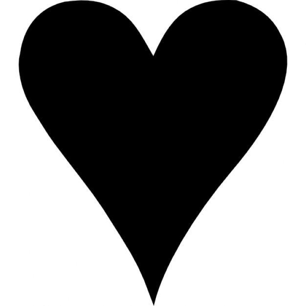 Heart Clipart Black Shape For Love