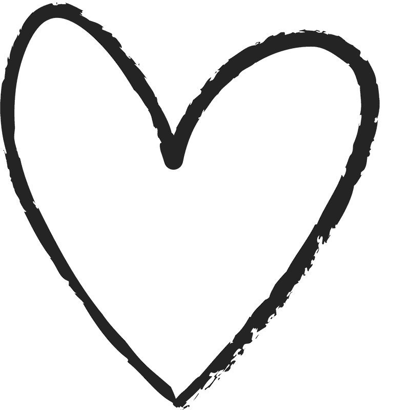 Hand Drawn Heart Rubber Stamp Clipart